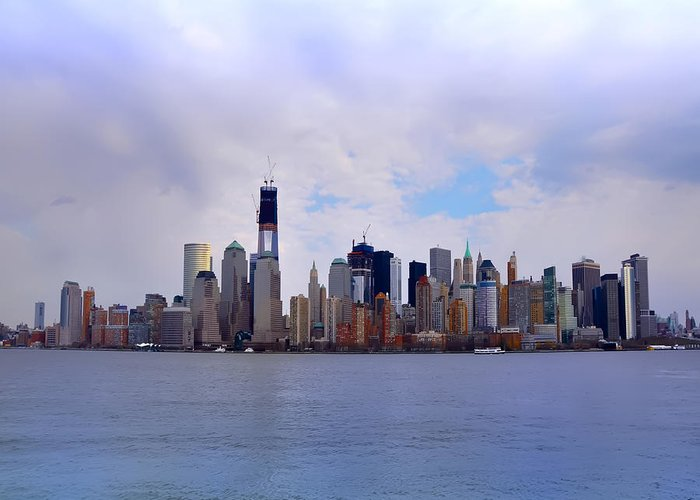 New York - Standing Tall Greeting Card featuring the photograph New York - Standing Tall by Bill Cannon