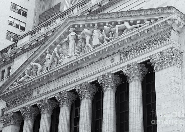 Clarence Holmes Greeting Card featuring the photograph New York Stock Exchange II by Clarence Holmes