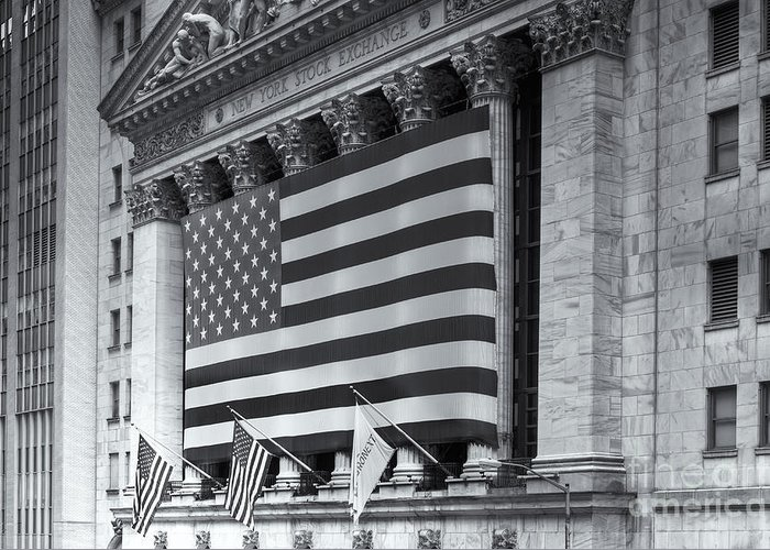 Clarence Holmes Greeting Card featuring the photograph New York Stock Exchange Iv by Clarence Holmes