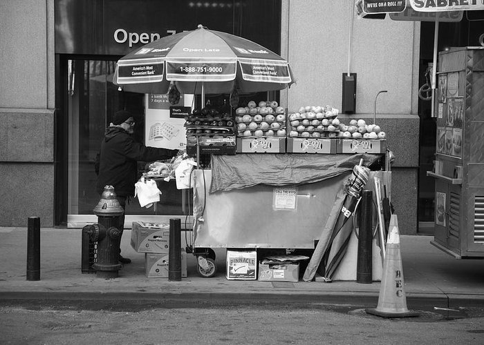 Apples Greeting Card featuring the photograph New York Street Photography 6 by Frank Romeo