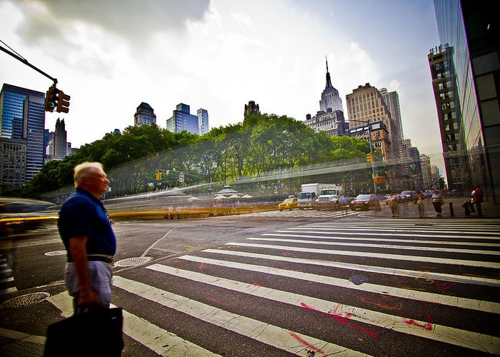 New York Greeting Card featuring the photograph New York - Waiting... by Amador Esquiu Marques