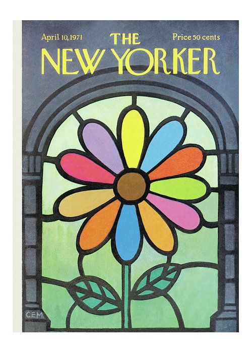 Charles E. Martin Cma Greeting Card featuring the painting New Yorker April 10th, 1971 by Charles E Martin