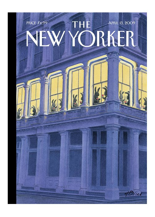 Easter Greeting Card featuring the painting New Yorker April 13th, 2009 by Harry Bliss