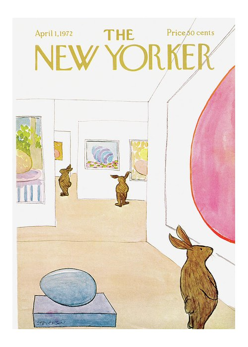 James Stevenson Greeting Card featuring the painting New Yorker April 1st, 1972 by James Stevenson