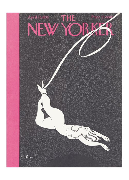 Illustration Greeting Card featuring the painting New Yorker April 23rd 1938 by Christina Malman