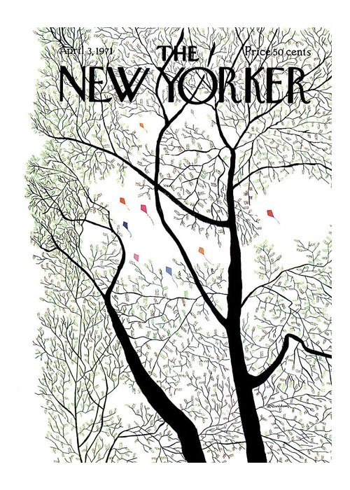 Raymond Davidson Rdv Greeting Card featuring the painting New Yorker April 3rd, 1971 by Raymond Davidson