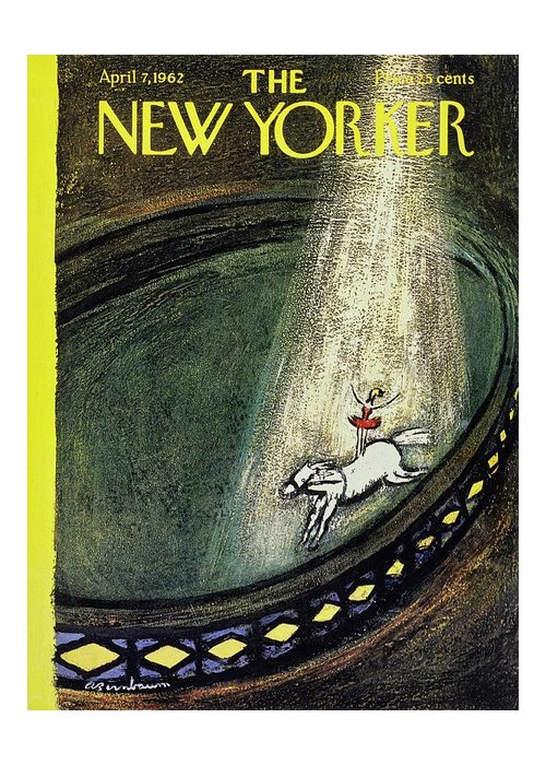 Illustration Greeting Card featuring the painting New Yorker April 7th 1962 by Aaron Birnbaum