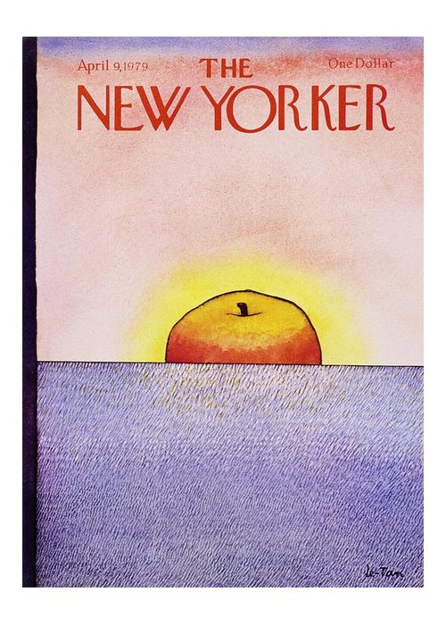 Illustration Greeting Card featuring the painting New Yorker April 9th 1979 by Pierre Le-Tan