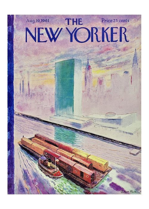 Illustration Greeting Card featuring the painting New Yorker August 19th 1961 by Garrett Price