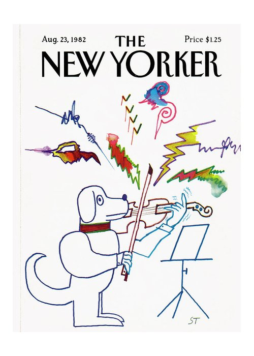Saul Steinberg 50520 Steinbergattny Greeting Card featuring the painting New Yorker August 23rd, 1982 by Saul Steinberg