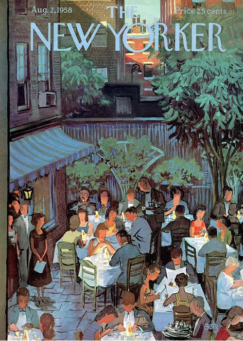 Arthur Getz Agt Greeting Card featuring the painting New Yorker August 2nd, 1958 by Arthur Getz