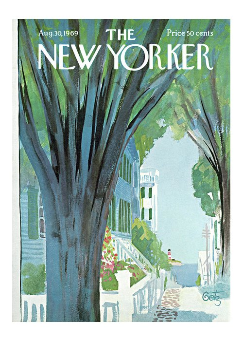 Arthur Getz Agt Greeting Card featuring the painting New Yorker August 30th, 1969 by Arthur Getz