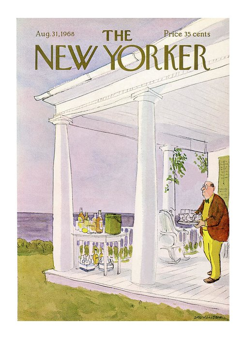 James Stevenson Jst Greeting Card featuring the painting New Yorker August 31st, 1968 by James Stevenson