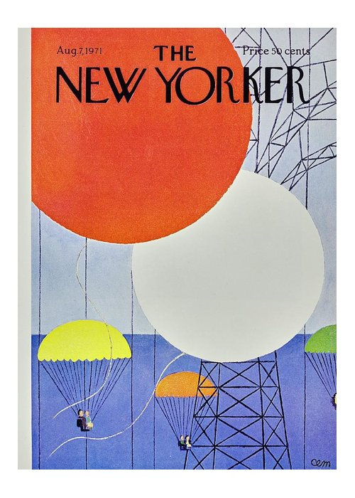Illustration Greeting Card featuring the painting New Yorker August 7th 1971 by Charles Martin