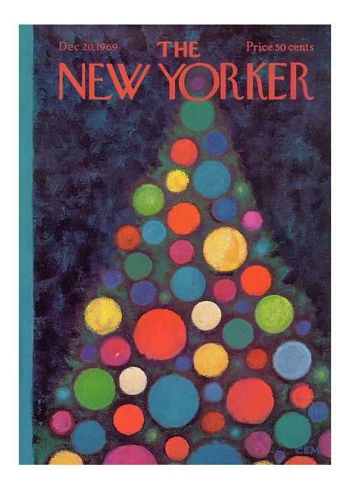 Charles E. Martin Cma Greeting Card featuring the painting New Yorker December 20th, 1969 by Charles E Martin