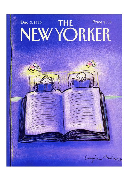Married Couple Greeting Card featuring the painting New Yorker December 3rd, 1990 by Eugene Mihaesco