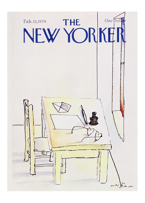 Illustration Greeting Card featuring the painting New Yorker February 12th 1979 by Andre Francois
