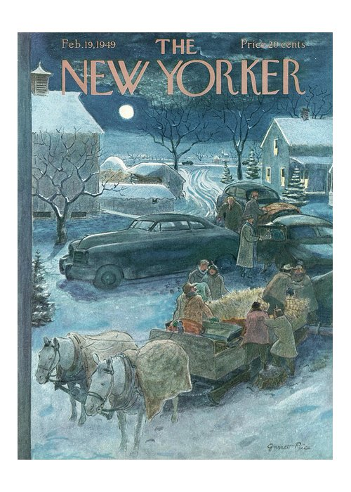 Season Greeting Card featuring the painting New Yorker February 19th, 1949 by Garrett Price