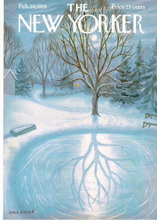 Edna Eicke Eed Greeting Card featuring the painting New Yorker February 28th, 1959 by Edna Eicke