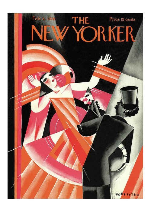 Concert Greeting Card featuring the painting New Yorker February 6th, 1926 by Victor Bobritsky