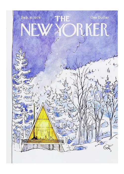 Illustration Greeting Card featuring the painting New Yorker February 6th 1978 by Arthur Getz
