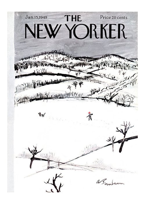 Season Greeting Card featuring the painting New Yorker January 15th, 1949 by Abe Birnbaum