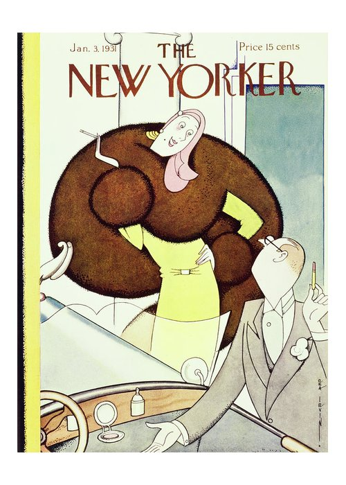 Illustration Greeting Card featuring the painting New Yorker January 3 1931 by Rea Irvin