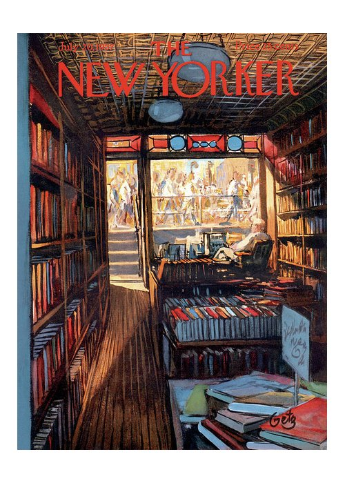 Arthur Getz Agt Greeting Card featuring the painting New Yorker July 20th, 1957 by Arthur Getz