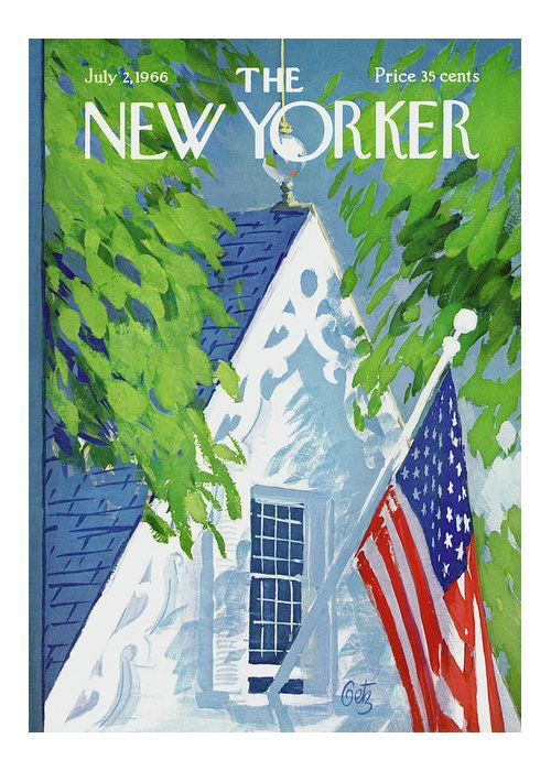 July Fourth Greeting Card featuring the painting New Yorker July 2nd, 1966 by Arthur Getz