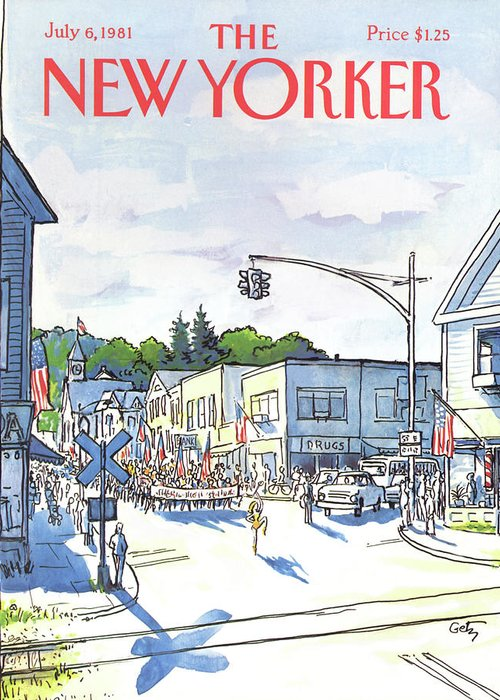 Entertainment Greeting Card featuring the painting New Yorker July 6th, 1981 by Arthur Getz