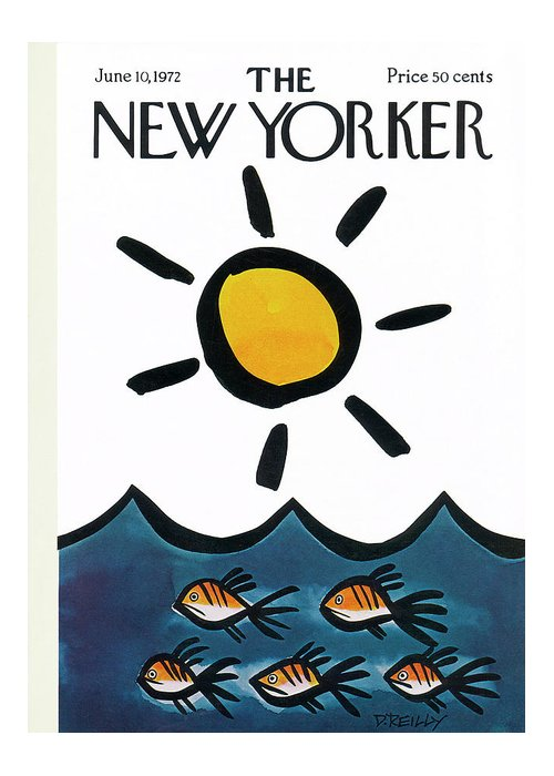 Donald Reilly Greeting Card featuring the painting New Yorker June 10th, 1972 by Donald Reilly