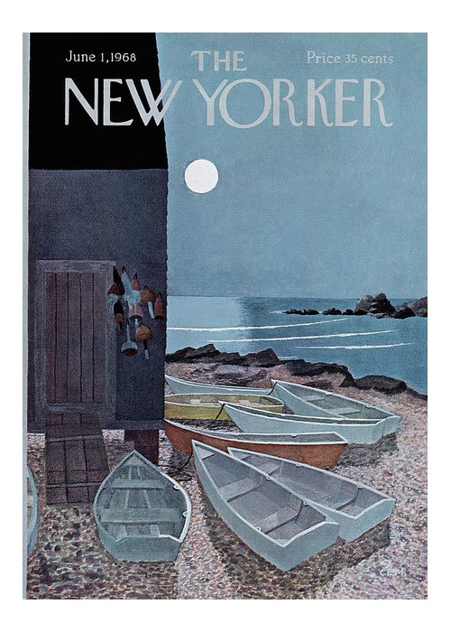 Charles E. Martin Cma Greeting Card featuring the painting New Yorker June 1st, 1968 by Charles E Martin