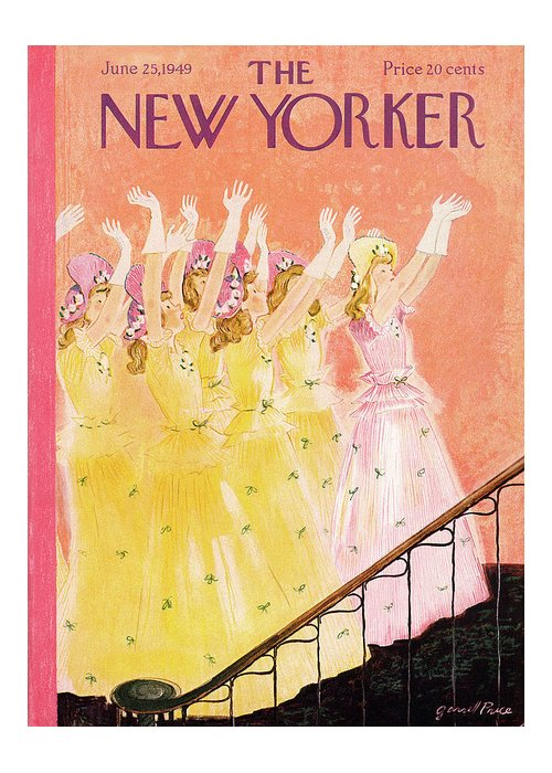 Marriage Greeting Card featuring the painting New Yorker June 25th, 1949 by Garrett Price