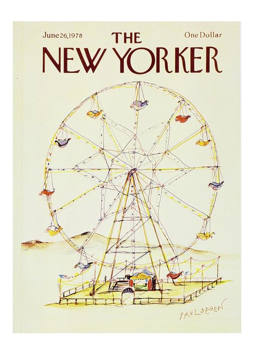 Illustration Greeting Card featuring the painting New Yorker June 26th 1978 by Paul Degen