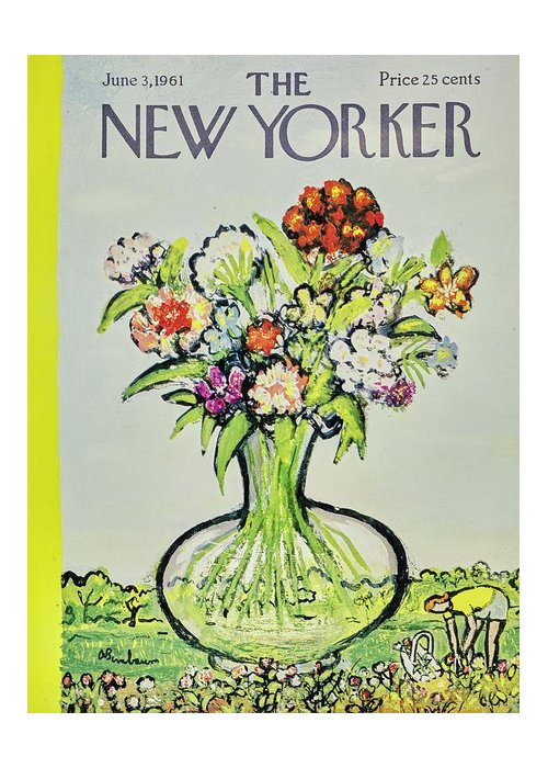 Illustration Greeting Card featuring the painting New Yorker June 3rd 1961 by Aaron Birnbaum