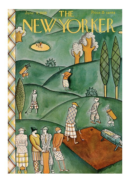 Ilonka Karasz Ika Greeting Card featuring the painting New Yorker June 9th, 1928 by Ilonka Karasz