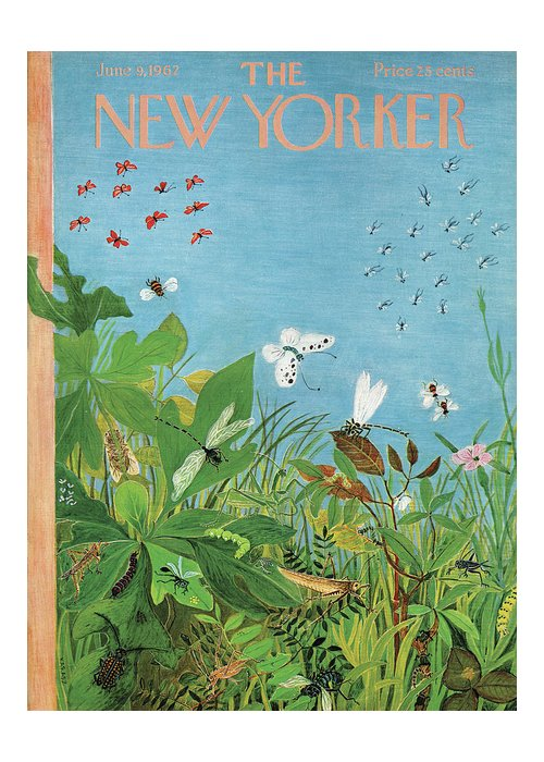 Summer Greeting Card featuring the painting New Yorker June 9th, 1962 by Ilonka Karasz