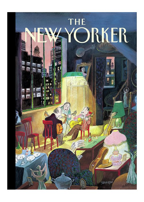 122064 122064 Jse J.j. Sempe Greeting Card featuring the painting New Yorker March 13th, 2006 by Jean-Jacques Sempe