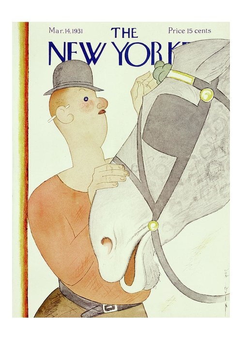 Illustration Greeting Card featuring the painting New Yorker March 14 1931 by Rea Irvin