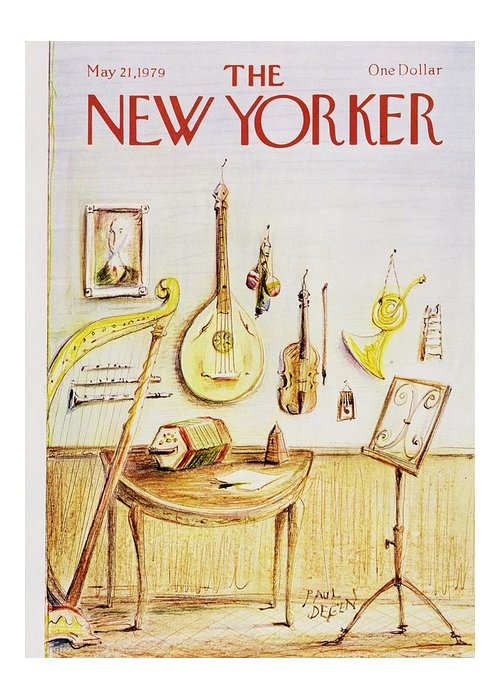 Illustration Greeting Card featuring the painting New Yorker May 21st 1979 by Paul Degen
