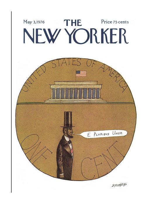 Saul Steinberg 50330 Steinbergattny Greeting Card featuring the painting New Yorker May 3rd, 1976 by Saul Steinberg