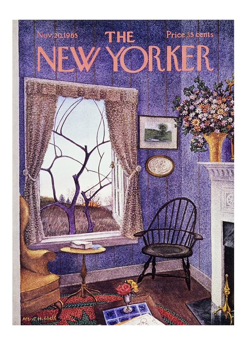 Illustration Greeting Card featuring the painting New Yorker November 20th 1965 by Albert Hubbell