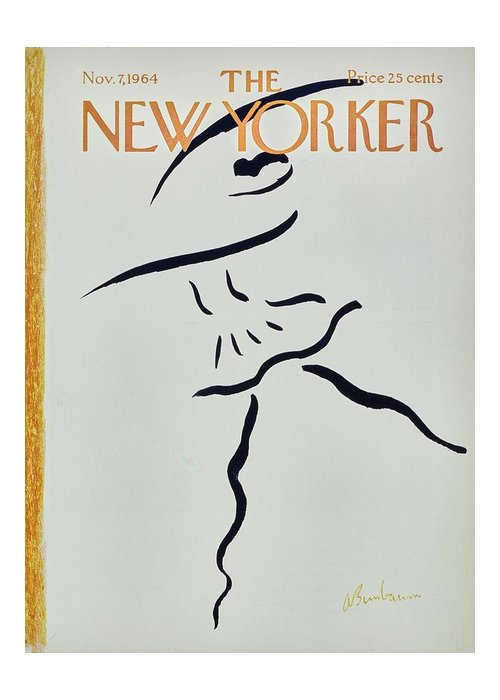 Illustration Greeting Card featuring the painting New Yorker November 7th 1964 by Aaron Birnbaum
