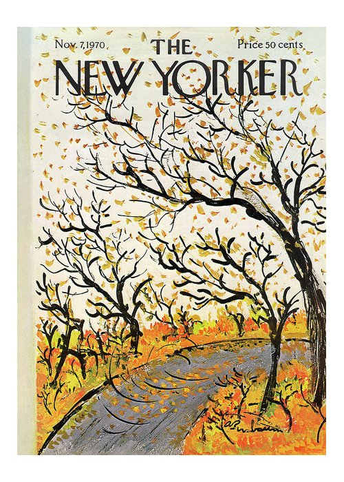 Abe Birnbaum Abi Greeting Card featuring the painting New Yorker November 7th, 1970 by Abe Birnbaum