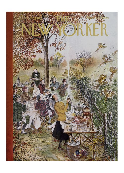 Animals Greeting Card featuring the painting New Yorker October 20th, 1962 by Mary Petty