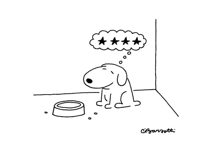 Animals Greeting Card featuring the drawing New Yorker October 20th, 1986 by Charles Barsotti