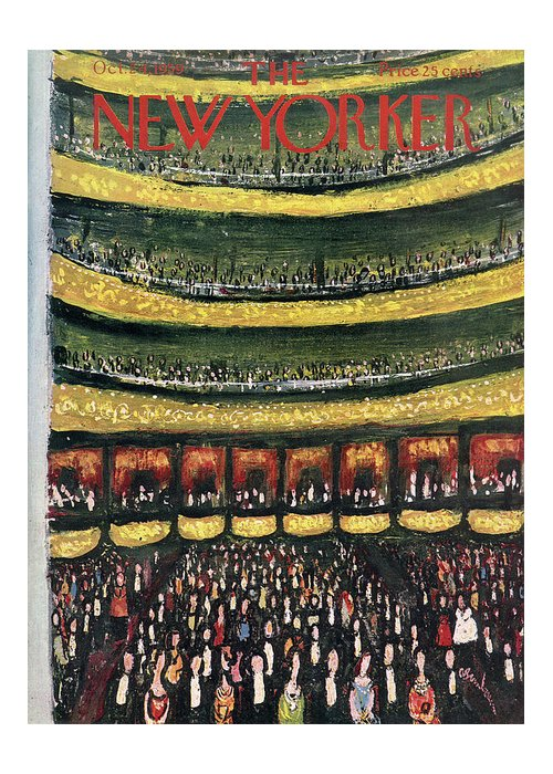 Abe Birnbaum Abi Greeting Card featuring the painting New Yorker October 24th, 1959 by Abe Birnbaum