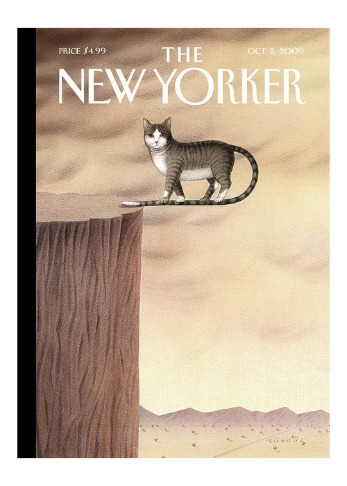 Animals Greeting Card featuring the painting New Yorker October 5th, 2009 by Gurbuz Dogan Eksioglu