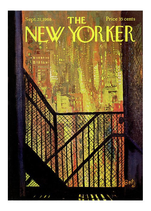 Arthur Getz Agt Greeting Card featuring the painting New Yorker September 21st, 1968 by Arthur Getz