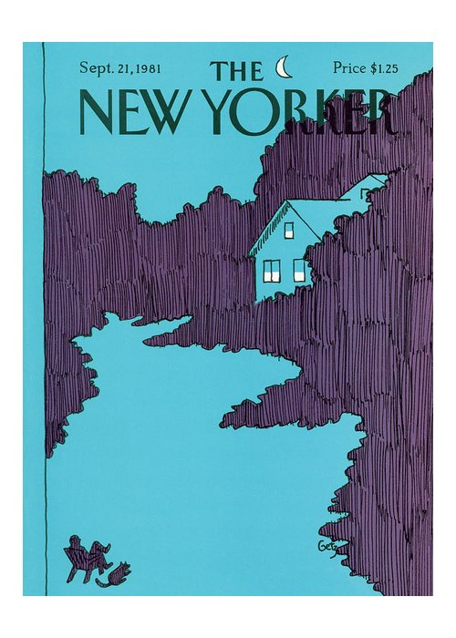 House Greeting Card featuring the painting New Yorker September 21st, 1981 by Arthur Getz